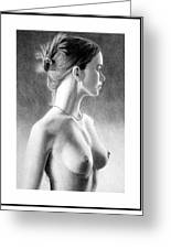 The Girl With The Glass Earring Greeting Card by Joseph Ogle