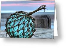 The Glass Fishing Float Greeting Card by JC Findley