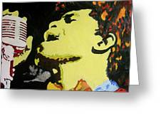 The God Father Of Soul James Brown Greeting Card by Ronald Young