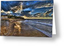 the golden hour during sunset at Israel Greeting Card by Ronsho