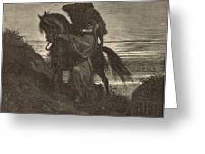 The Good Samaritan Greeting Card by Antique Engravings