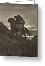 The Good Samaritan Greeting Card by Antique Engravings