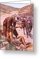 The Good Samaritan Greeting Card by Harold Copping
