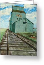 The Grain Elevator Greeting Card by Anthony Dunphy