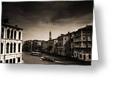 The Grand Canal Greeting Card by Aaron S Bedell