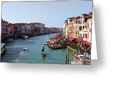 The Grand Canal Venice Oil Effect Greeting Card by Tom Prendergast