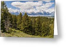 The Grand Tetons From Signal Mountain - Grand Teton National Park Wyoming Greeting Card by Brian Harig