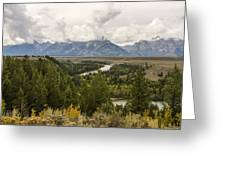 The Grand Tetons Over Snake River - Grand Teton National Park - Wyoming Greeting Card by Brian Harig