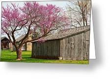 The Gray Campbell Farmstead Greeting Card by Lena Wilhite