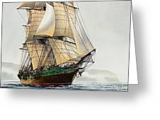 The Great Age Of Sail Greeting Card by James Williamson