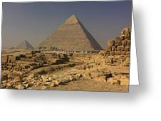 The Great Pyramids Of Giza Egypt Greeting Card by Ivan Pendjakov