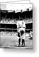 The Greatest Of All  Babe Ruth Greeting Card by Iconic Images Art Gallery David Pucciarelli
