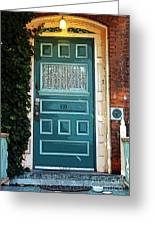 The Green Door Greeting Card by Kathleen Struckle