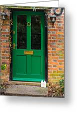 The Green Door Greeting Card by Mark Llewellyn