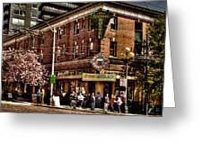 The Green Tortoise Hostel in Seattle Greeting Card by David Patterson