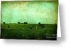 The Green Yonder Greeting Card by Trish Mistric