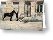 The Groom  Greeting Card by Giuseppe De Nittis