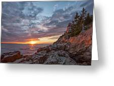 The Harbor Dusk II Greeting Card by Jon Glaser
