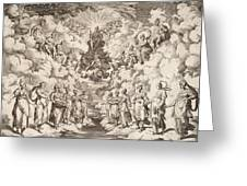 The Harmony Of The Spheres Greeting Card by Agostino Carracci