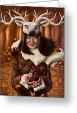 The Healer Greeting Card by Mark Zelmer