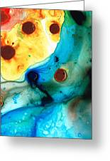The Heart's Desire - Colorful Abstract By Sharon Cummings Greeting Card by Sharon Cummings