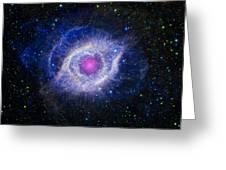 The Helix Nebula Greeting Card by Adam Romanowicz