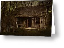 The Hermit's Cabin Greeting Card by Julie Dant