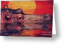 The hippo Greeting Card by Angela Doelling AD DESIGN Photo and PhotoArt