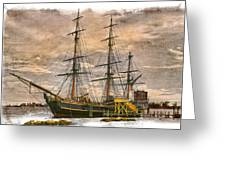 The Hms Bounty Greeting Card by Debra and Dave Vanderlaan