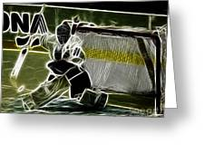 The Hockey Goalie Greeting Card by Bob Christopher