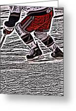 The Hockey Player Greeting Card by Karol Livote