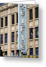 The Hollywood Pacific Theatre Greeting Card by Gregory Dyer