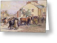 The Horse Fair  Greeting Card by John Atkinson