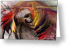 The Huntress-abstract Art Greeting Card by Karin Kuhlmann
