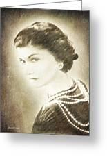 The Icon Of Elegance Greeting Card by Angela A Stanton