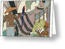 The idle beauty Greeting Card by Georges Barbier