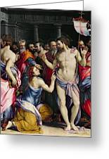 The Incredulity Of Saint Thomas Greeting Card by Francesco de Rossi Salviati Cecchino