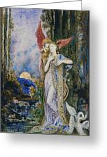 The Inspiration  Greeting Card by Gustave Moreau