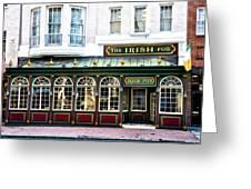 The Irish Pub - Philadelphia Greeting Card by Bill Cannon
