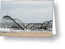 The JetStar Rollercoaster In Seaside Heights NJ Greeting Card by Living Color Photography Lorraine Lynch