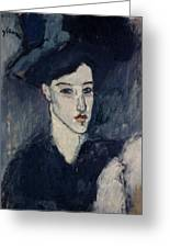 The Jewess Greeting Card by Amedeo Modigliani
