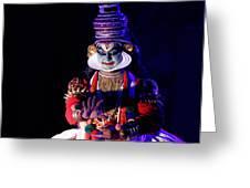 The Kathakali Dance Greeting Card by Money Sharma