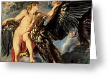 The Kidnapping Of Ganymede Greeting Card by Rubens