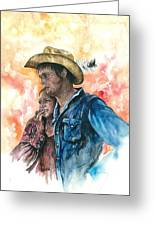 The King And His Queen Greeting Card by Kim Whitton