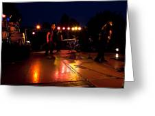 The Kingpins Rock The Night Away Greeting Card by David Patterson
