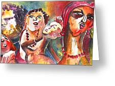 The Ladies Of Loket In The Czech Republic Greeting Card by Miki De Goodaboom