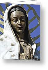 The Lady Prays Greeting Card by Terry Rowe