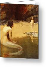 The Land Baby Greeting Card by John Collier