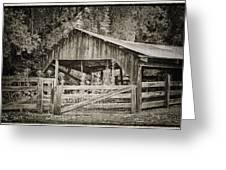 The Last Barn Greeting Card by Joan Carroll