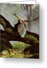 The Last Dinosaur Greeting Card by Daniel Eskridge